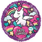 globo unicornio feliz cumple 22cm