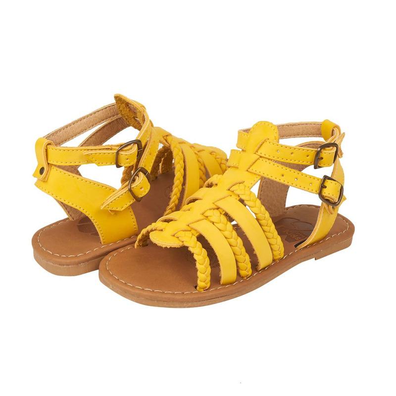 Sandalia amarilla trenzada 018369
