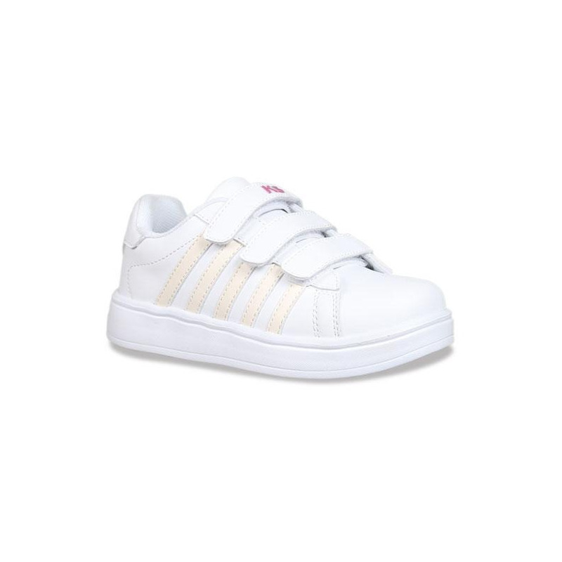 Sneakers K-Swiss blancos con broches K5F263