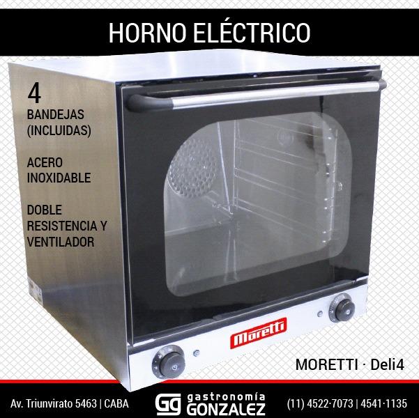 Horno eléctrico Moretti Deli-4