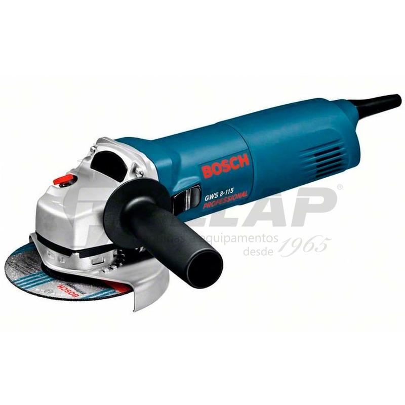 """Esmerilhadeira Angular Bosch 4.1/2"""" GWS8-115 850W 110V"""