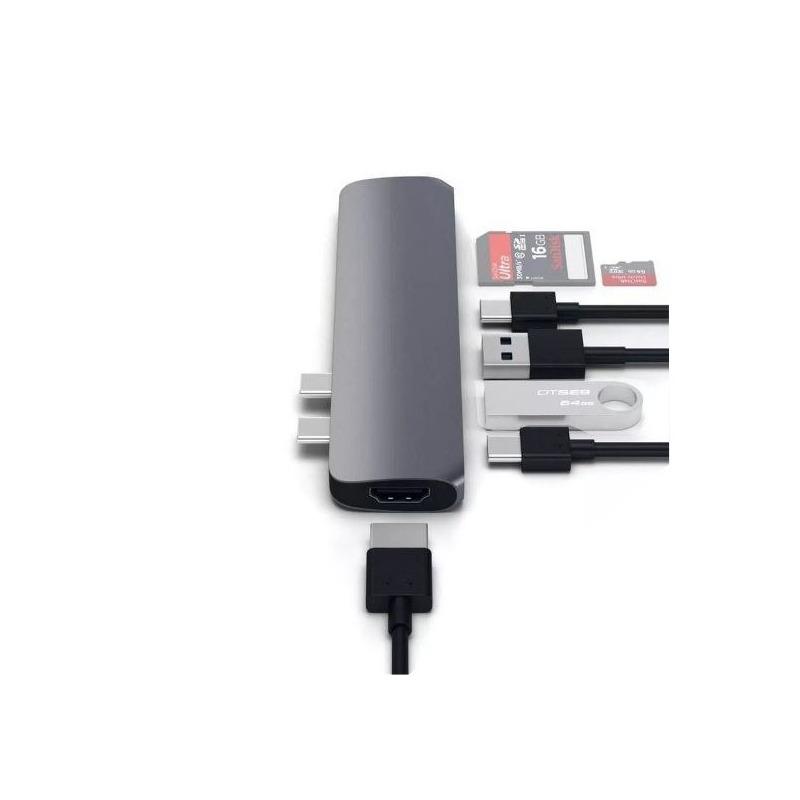Hub Satechi Multiporta Usb C Macbook Pro 2018 4k Cmbpm Gray
