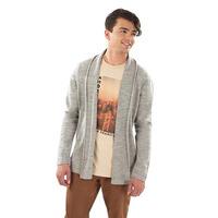 Suéter gris abierto 014558
