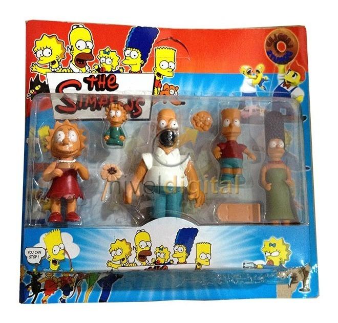 Set De 5 Figuras Los Simpson Para Coleccionar Blister Regalo