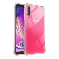 Funda Airbag Transparente P/ Samsung A7 2018 + Glass 5d