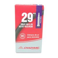 CÂMARA DE AR CHAOYANG MTB ARO 29 - 29X2.1/2.25 - VÁLVULA PRESTA 48MM (BICO FINO)