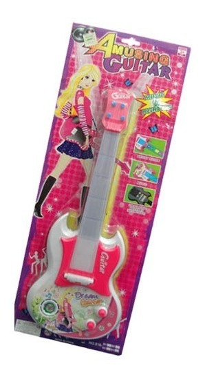 Guitarra Electrica Con Cuerdas Muy Real Luces Sonido Nena
