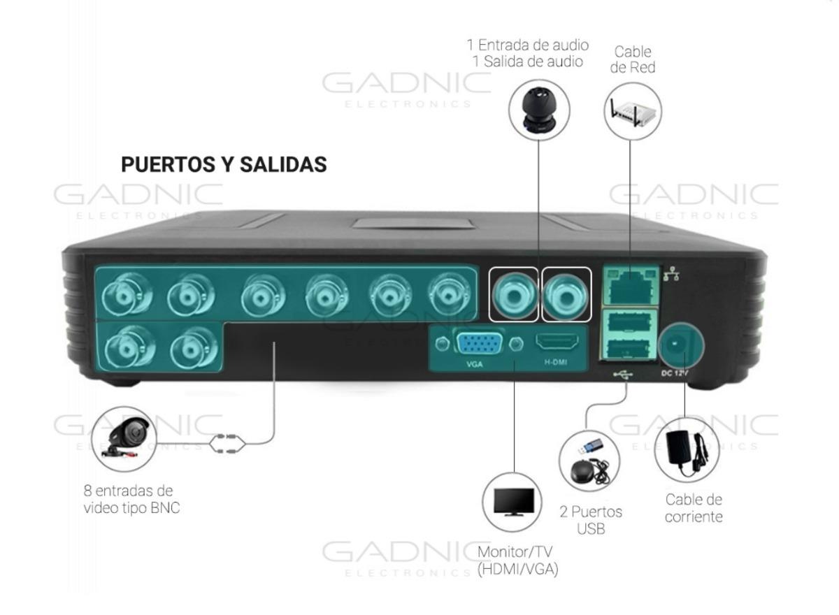 Kit De Seguridad 8 Camaras Hd Con Dvr Y Disco 1tb Gadnic