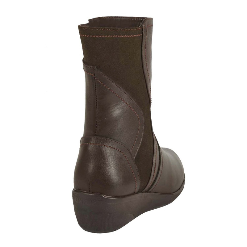 Bota plataforma chocolate piel 016654