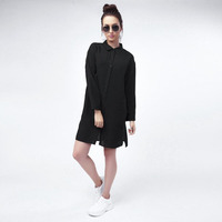 Vestido Negro Con Botones 017105