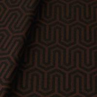Tecido jacquard para almofada - marrom/preto - Impermeável - Coleção Panamá