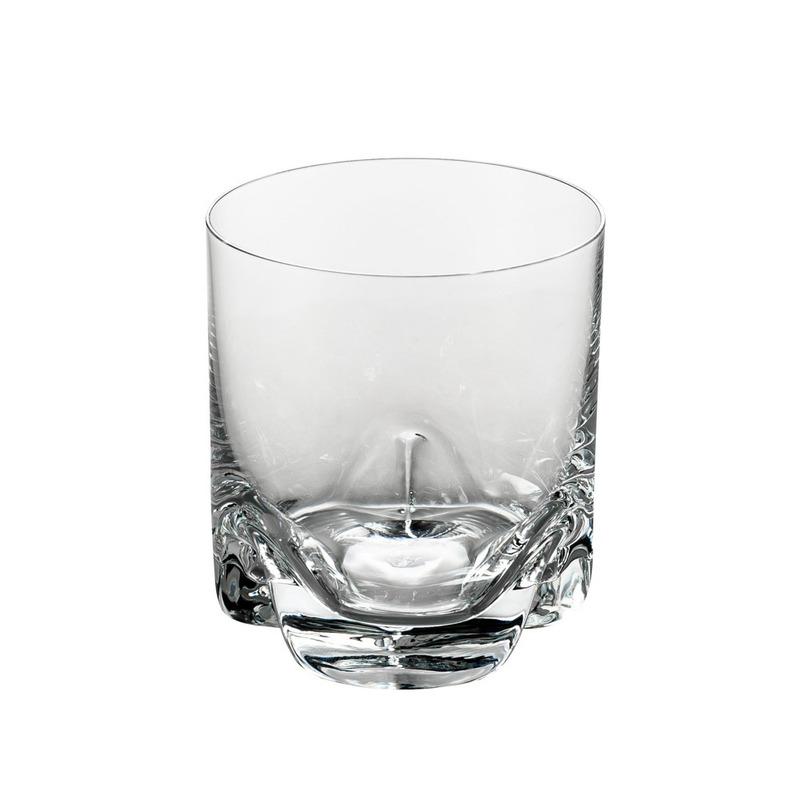 Jogo 6 Copos para Whisky De Cristal Ecológico Trio 280Ml