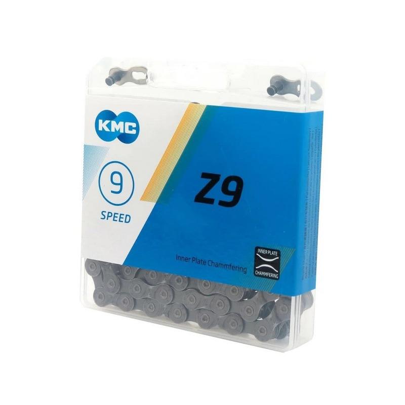 CORRENTE KMC Z9 CINZA 116 ELOS C/ POWER LINK - 9V