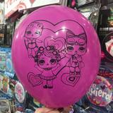 globo lol 12pulgadas desinflado apto helio/aire