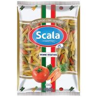 Macarrao Penne (Pena) Tricolor com Vegetais - 500g - Scala