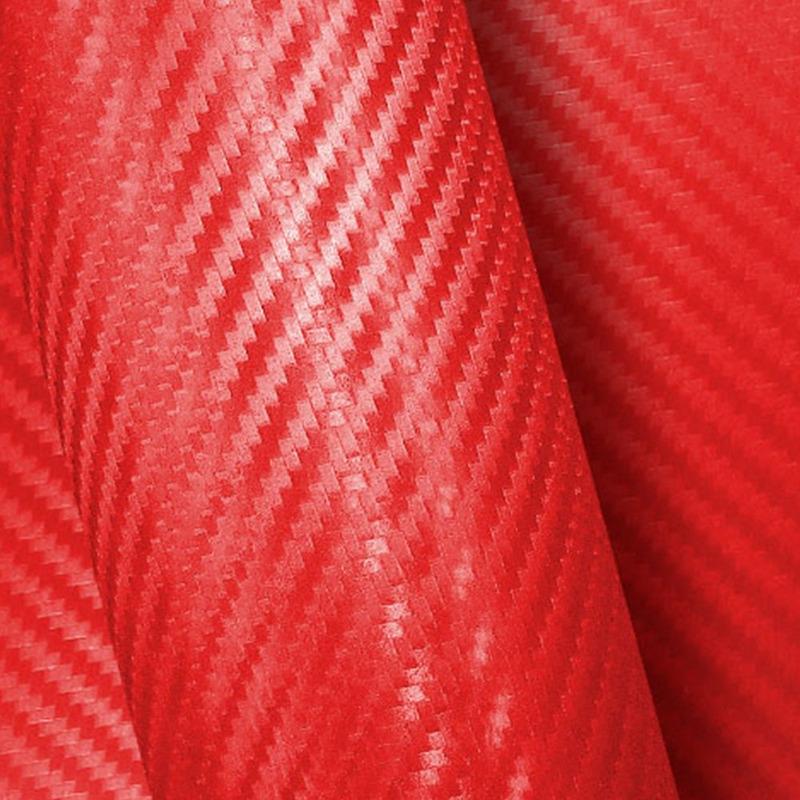 Vinil adesivo fibra de carbono (carbonium) vermelho larg. 1,38 m