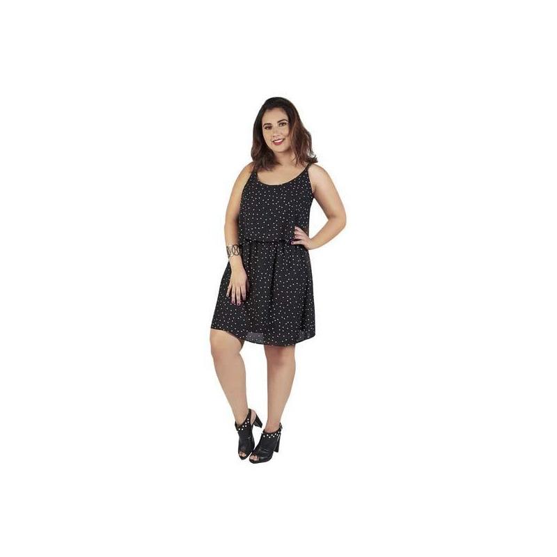 Vestido negro estampado 015422P