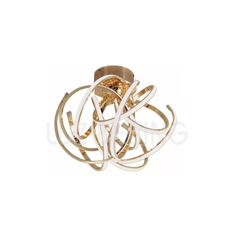 Araña Colgante Luces Led 60w Diseño Moderno Dorado  Pal