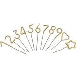 velas Numero estrellitas doradas