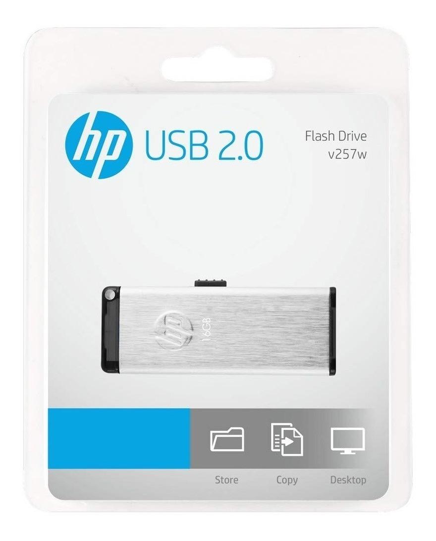 Pendrive 64gb Hp V257w Metalico Usb 2.0 Retractil Pen Drive