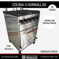 Cocina 4 Hornallas Enrique Garcia