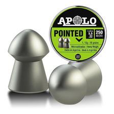 Balines Apolo Pointed 5.5 - Lata X250 - Caza Aire Comprimido