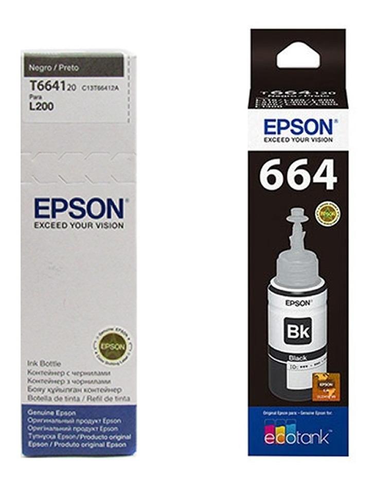 Tinta Epson T664120 Color Negro L200 L210 L355 L555 Original