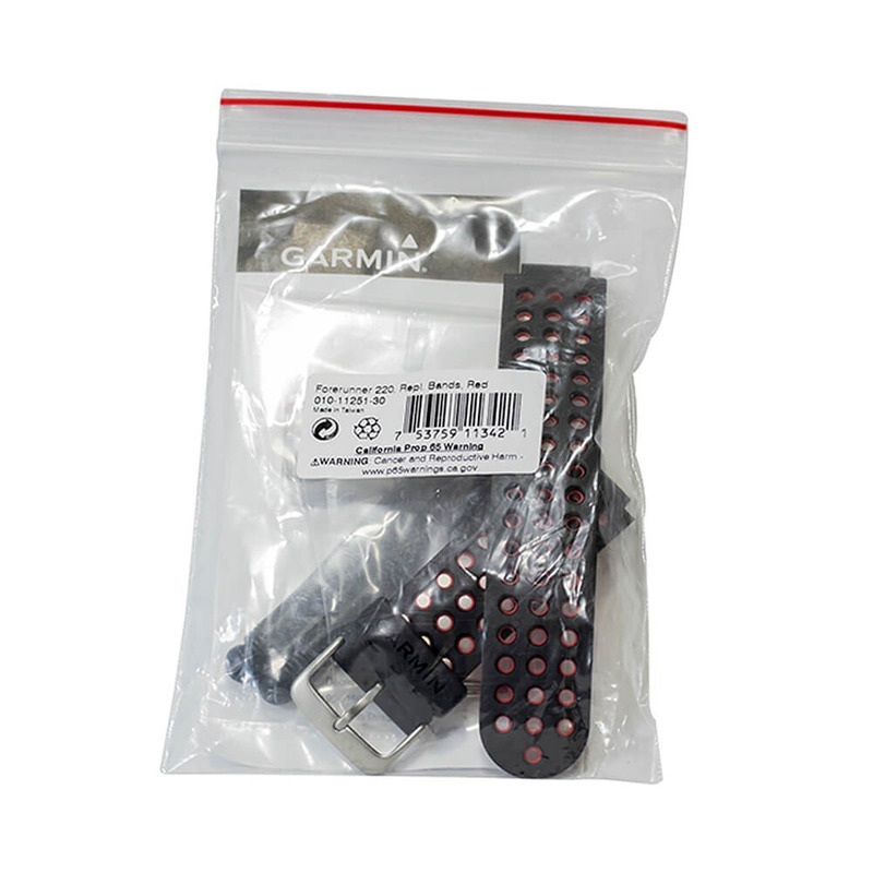 Pulseira Preta e Vermelha para Relógio Garmin Forerunner 220/ 620 010-11251-30
