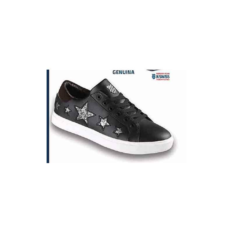 Sneakers K-Swiss negros estampados con brillos K9F134
