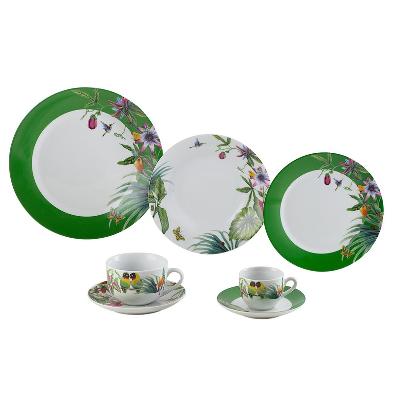 Jogo de Jantar em Porcelana 42 Peças Vigo-Wolff 31017186