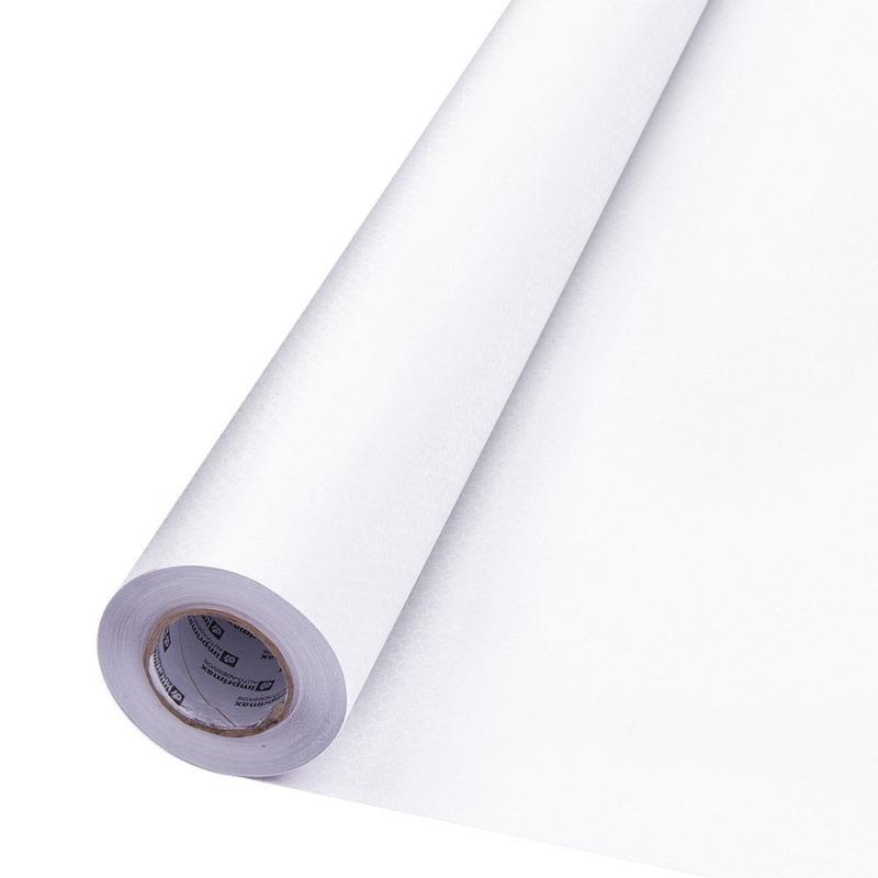 Vinil adesivo jateado transparente microesfera larg. 1,22 m