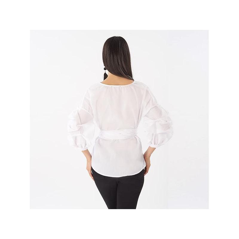Blusa blanca cruzada  014504