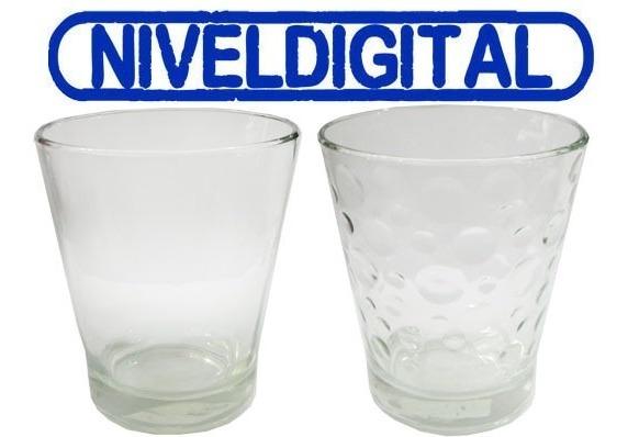 6 Vasos Conicos Vidrio Transparente Durax Bar Parrilla Resto