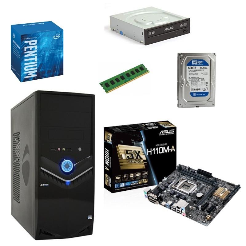 CPU Ensamblado G4400, 4GB, 500GB, Quemador, Gab AKRON