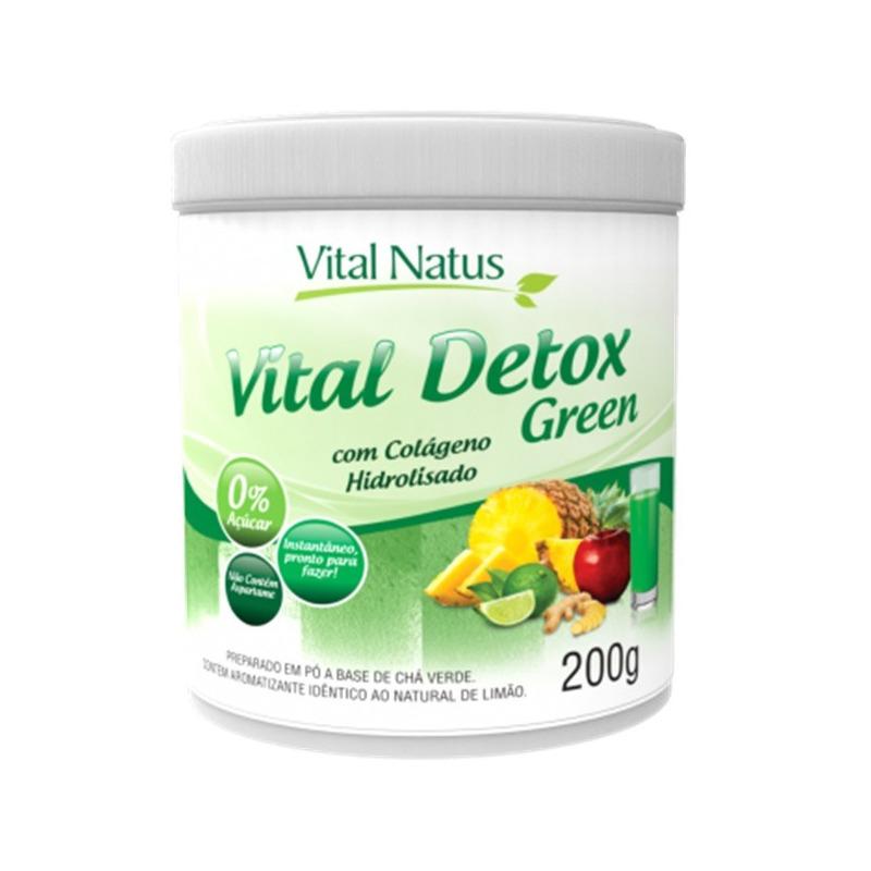 Vital Detox Green (Limao) com Colageno - 200g - Vital Natus