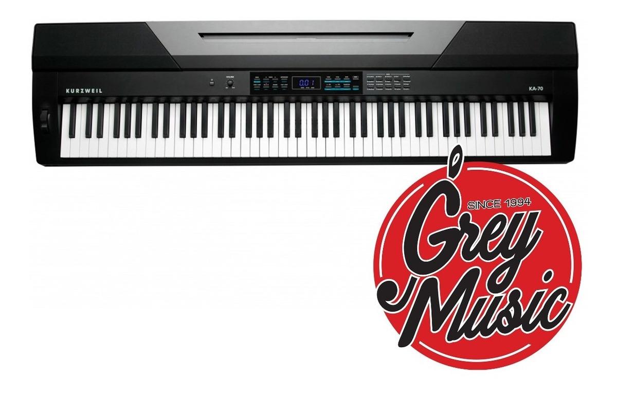 Piano Digital Kurzweil Ka70 88 Notas 128 Voces Negro