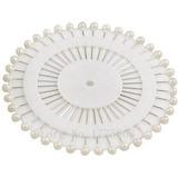 Alfinetes Cabeça Bola Branco - 120 Pçs