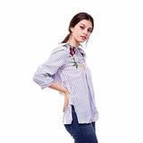 Customs Ba Camisa Mujer Importada Entallada Camisas Flores