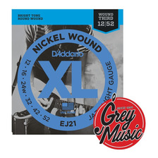 Encordado Daddario Ej21 Xl Para Electrica 012-052 Grey Music