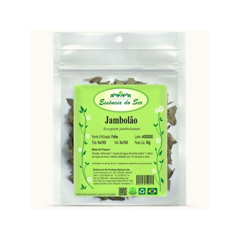 Cha de Jambolao - Kit 3 x 30g - Essencia do Ser