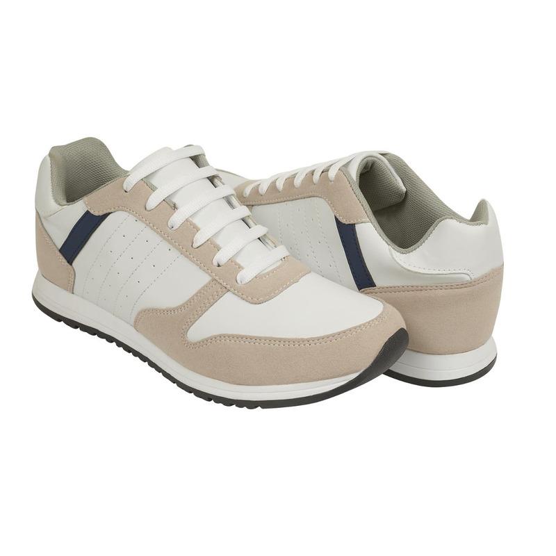 Sneakers blancos con beige 018718