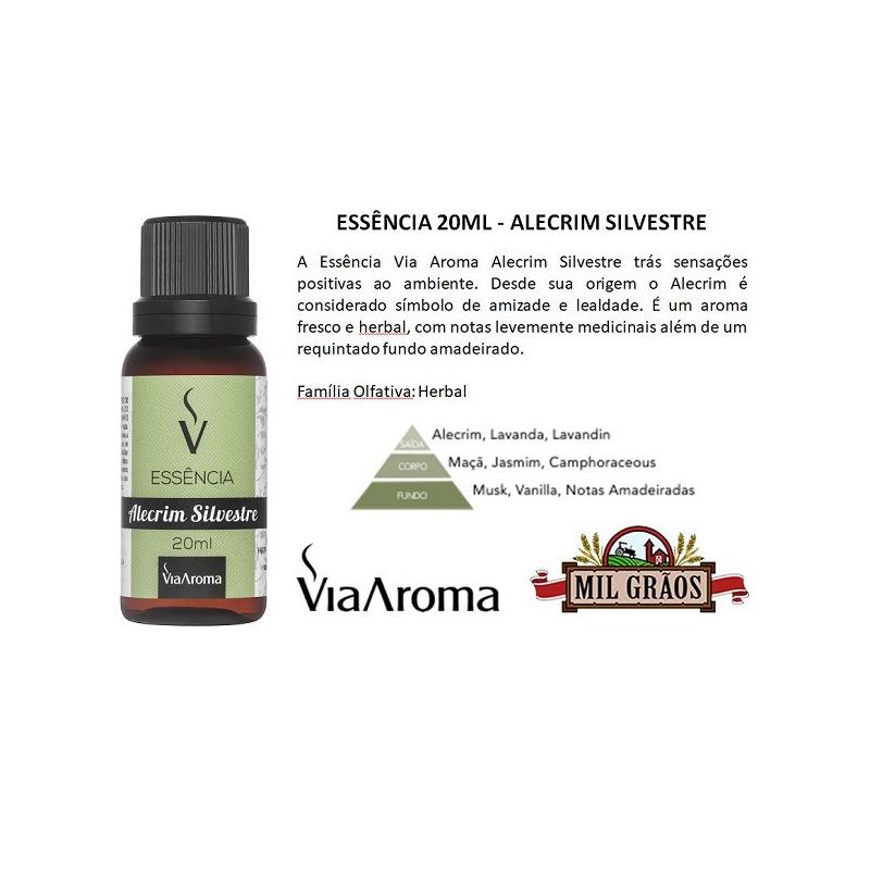 Essencia de Alecrim Silvestre - 20ml - Via Aroma