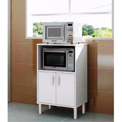 Mueble cocina organizador para microondas blanco politorno for Mueble cocina microondas