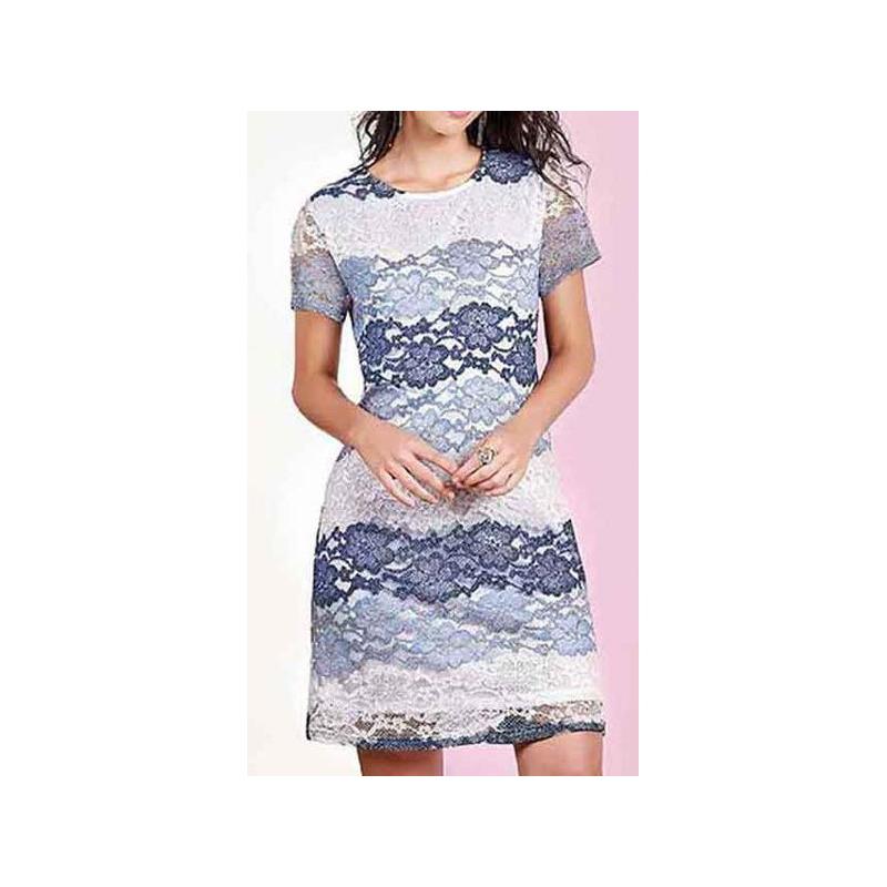 Vestido corto azul estampado 015168