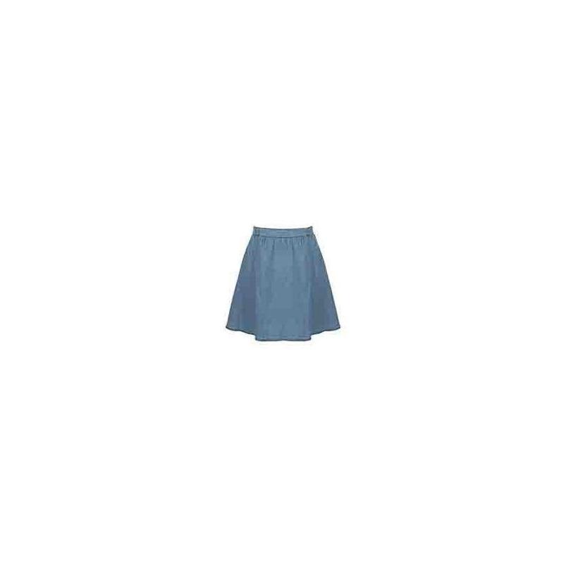 Falda corta azul mezclilla  012636