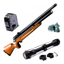Rifle Aire Comprimido Fox Pcp M22 5.5 - Regulado + Mira Zoom