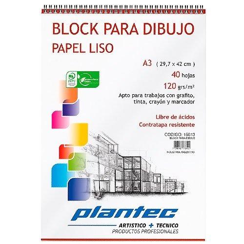 BLOCK PARA DIBUJO PLANTEC 120grs - A3/40hj