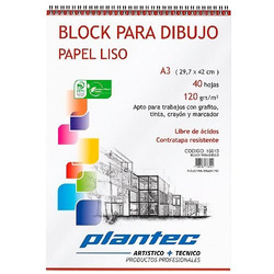 BLOCK PARA DIBUJO PLANTEC 120grs - A3...
