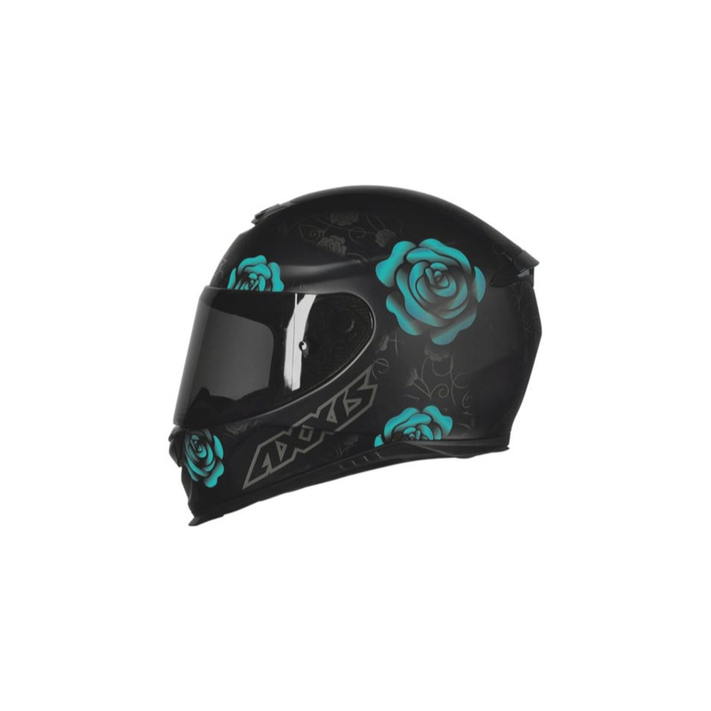 Capacete Axxis Eagle Flowers Preto Tifanny
