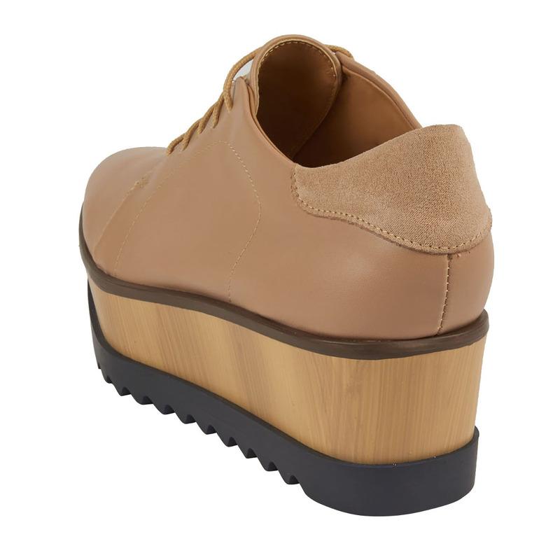 Sneakers plataforma pathé gamuza 017356